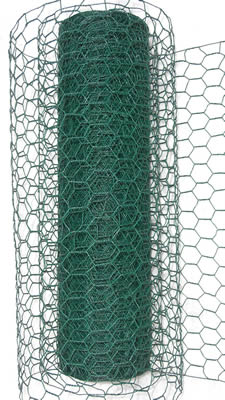 PVC coated chicken wire in roll