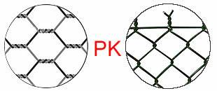 chicken wire mesh woven structure vs chain link mesh structure