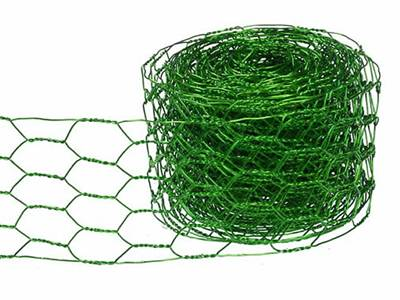 A roll of beautiful light-green craft chicken wire.