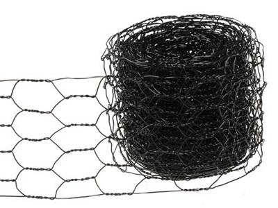 A roll of black color decorative chicken wire