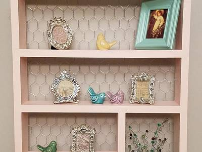 Chicken Wire Cabinets