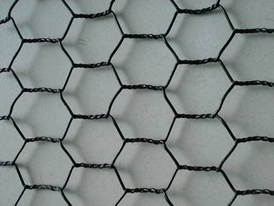Black Vinyl Coated Chicken Wire Fencing