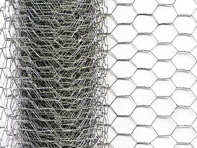 A roll of galvanized rabbit wire netting